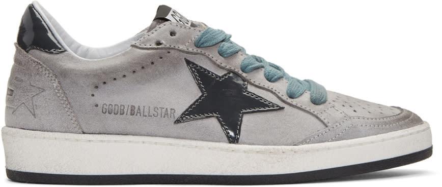 Golden Goose Grey Suede Ball Star Sneakers