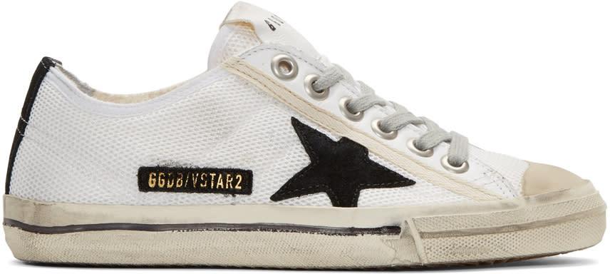 Golden Goose White V-star 2 Sneakers