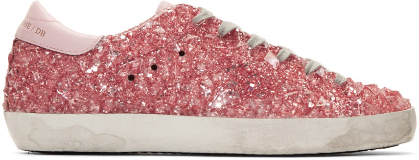 Golden Goose Pink Glitter Jelly Superstar Sneakers