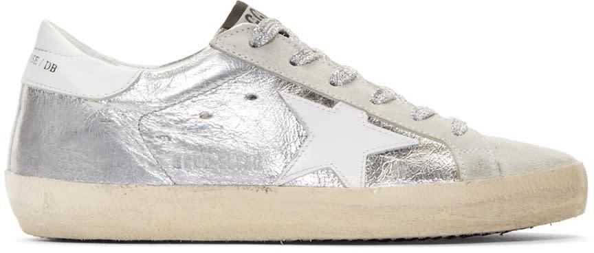 Golden Goose Silver Metallic Superstar Sneakers
