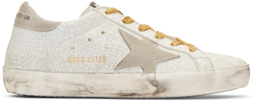 Golden Goose White Crash Superstar Sneakers