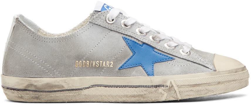 Golden Goose Grey V-star 2 Sneakers
