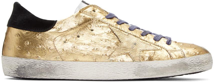 Golden Goose Gold Superstar Sneakers
