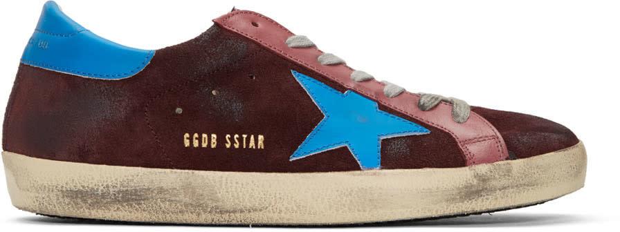 Golden Goose Purple Suede Superstar Sneakers