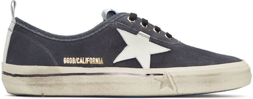 Golden Goose Black Suede California Sneakers