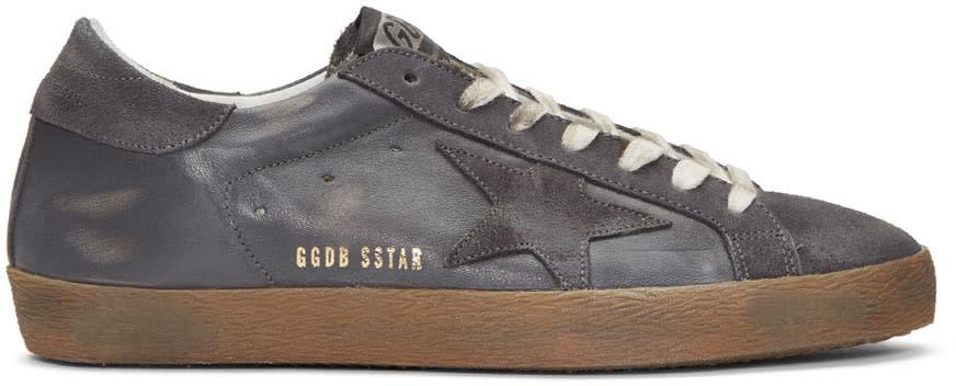 Golden Goose Grey Superstar Sneakers