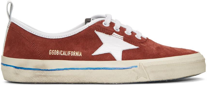 Golden Goose Burgundy Suede California Sneakers