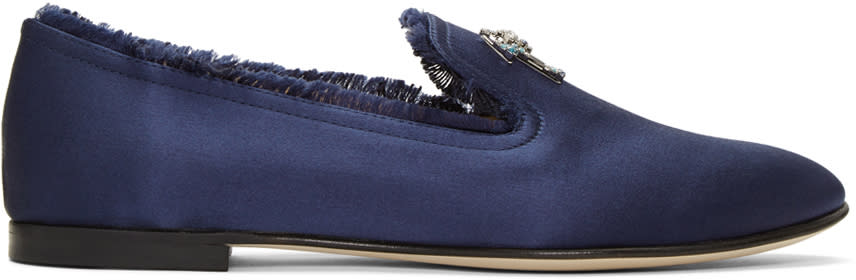 Navy Dalila Loafers