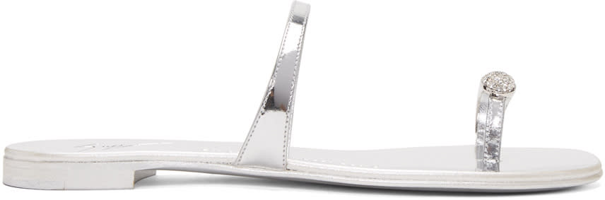 Silver Patent Nuvorock Sandals