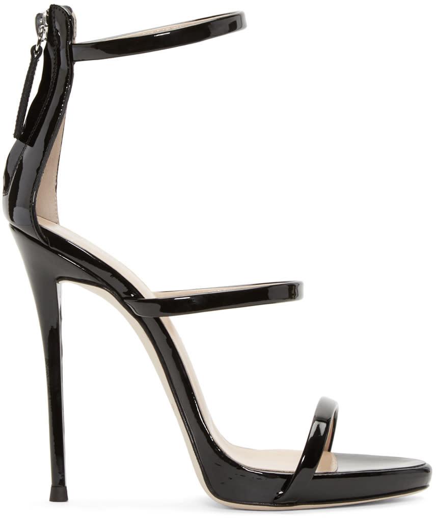 Image of Giuseppe Zanotti Black Colline Heeled Sandals