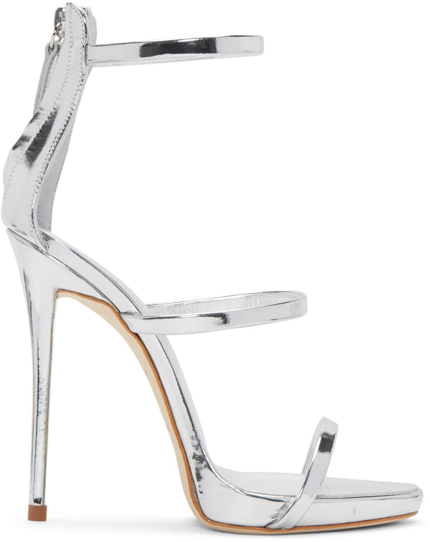 Silver Colline Heeled Sandals