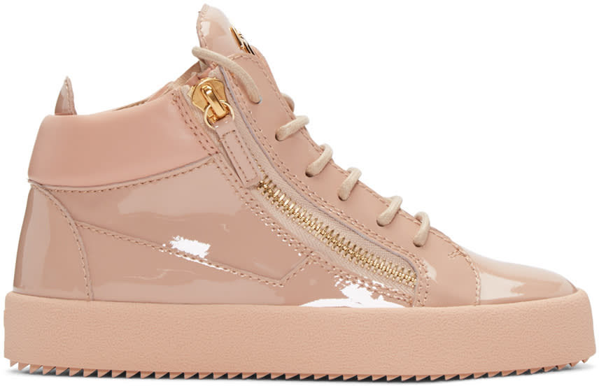 Pink Patent London High-top Sneakers