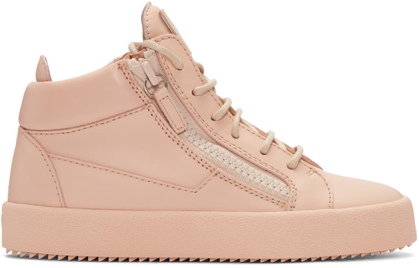 Giuseppe Zanotti Pink Mid-top London Sneakers