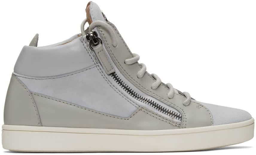 Giuseppe Zanotti Grey Suede London High-top Sneakers