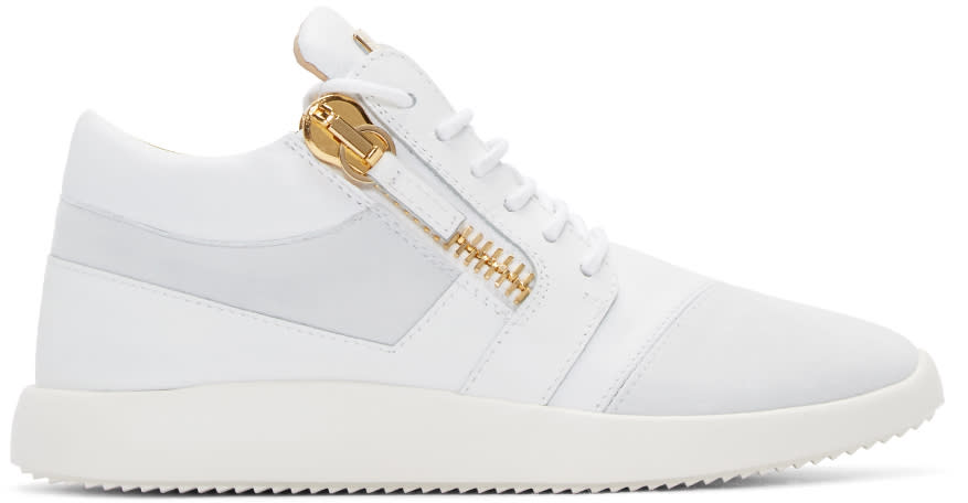 Giuseppe Zanotti White Leather Sneakers