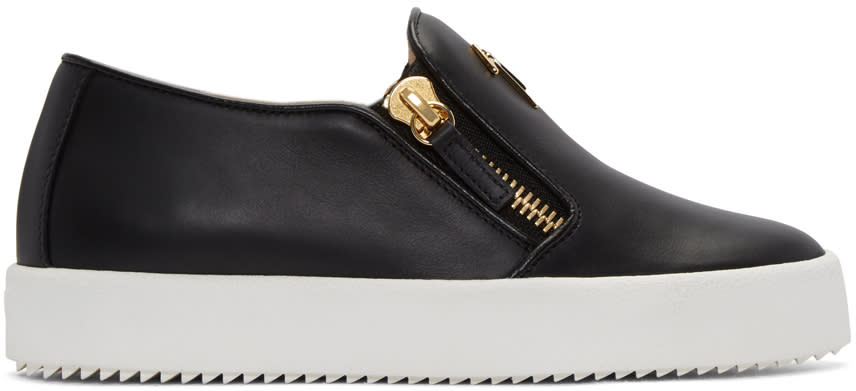 Giuseppe Zanotti Black London Slip-on Sneakers