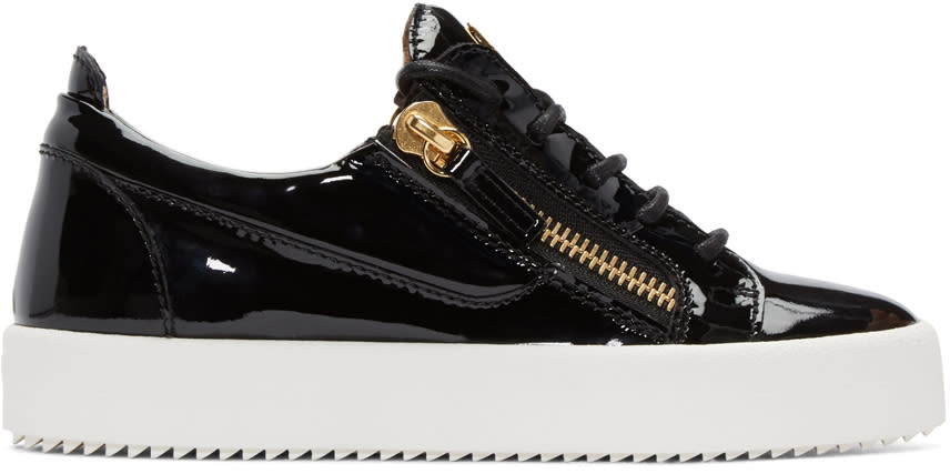 Giuseppe Zanotti Black Patent London Sneakers