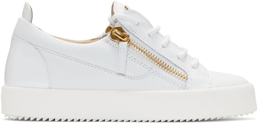 Giuseppe Zanotti White Leather London Sneakers