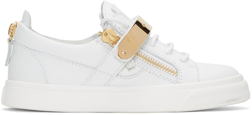 Giuseppe Zanotti Ssense Exclusive White London Sneakers