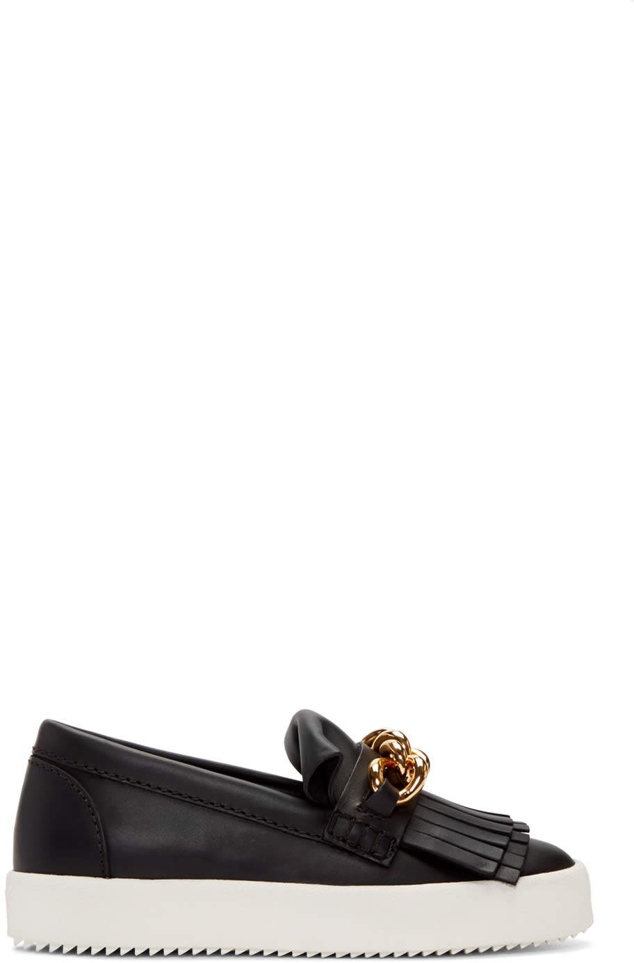 Black May London Fringed Sneakers