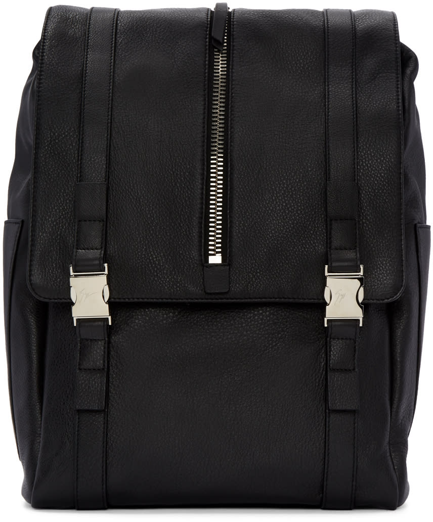 Giuseppe Zanotti Black Zipper Boris Backpack