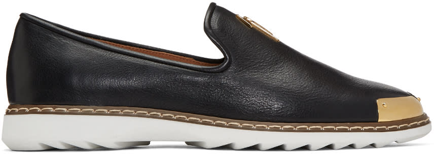 Giuseppe Zanotti Black Leather Kevin 10 Loafers