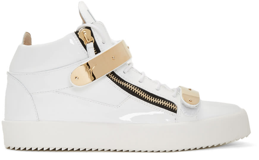 Giuseppe Zanotti White Patent London High-top Sneakers