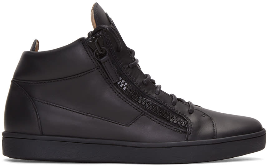 Giuseppe Zanotti Black London High-top Sneakers
