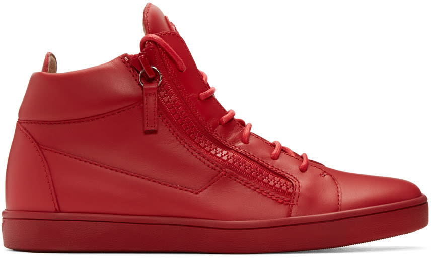 Giuseppe Zanotti Red Brek High-top Sneakers