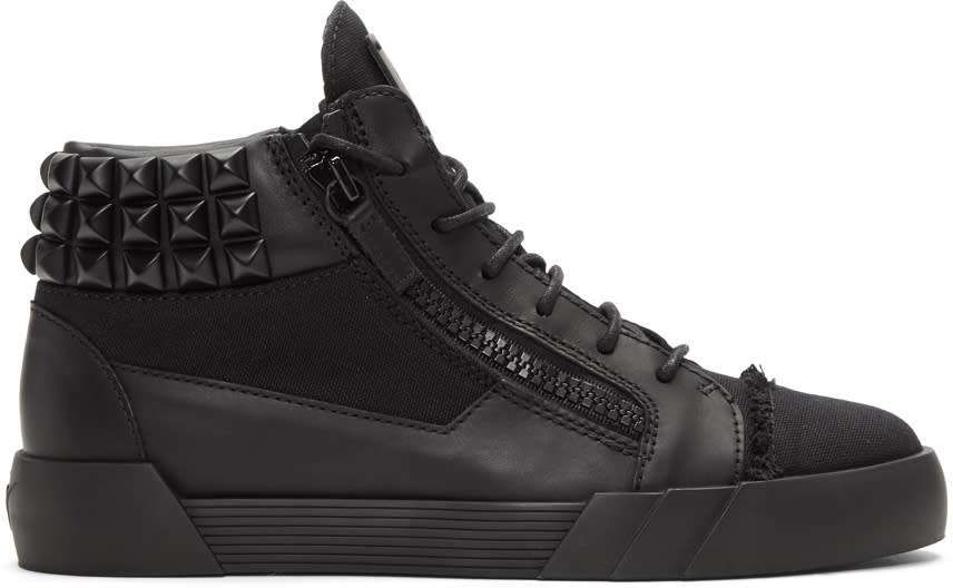 Giuseppe Zanotti Black Foxy London Mid-top Sneakers