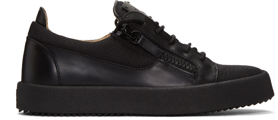 Giuseppe Zanotti Black Mesh Low-top Sneakers