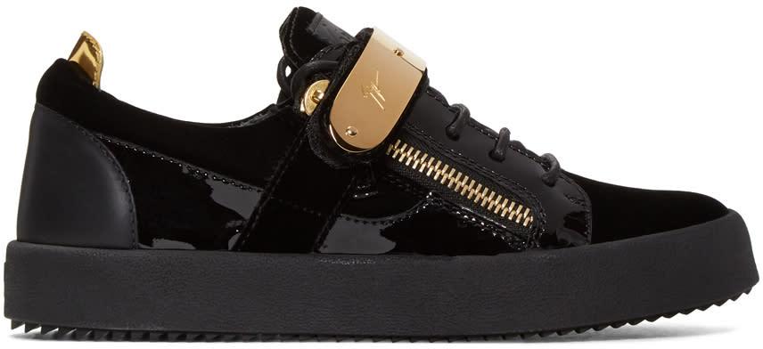 Giuseppe Zanotti Black Velvet London Sneakers
