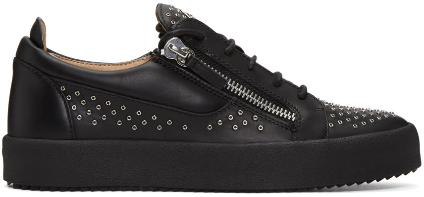 Giuseppe Zanotti Black Studded London Sneakers