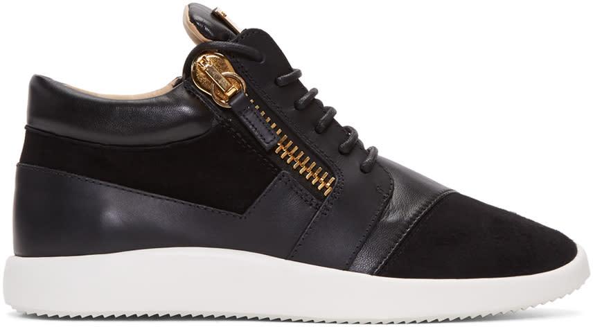 Giuseppe Zanotti Black Singles Mid-top Sneakers