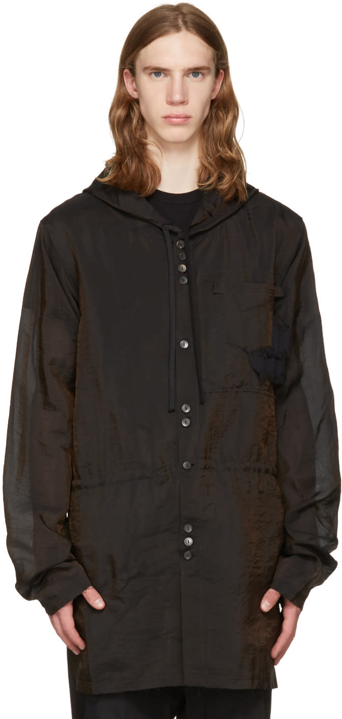 Damir Doma Brown Silk Jim Coat