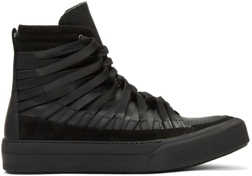 Image of Damir Doma Black Falco High-top Sneakers