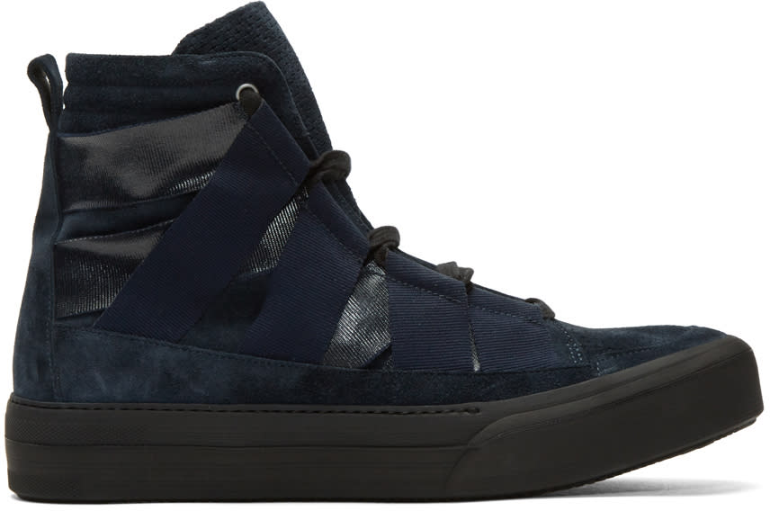 Damir Doma Indigo Fin High-top Sneakers
