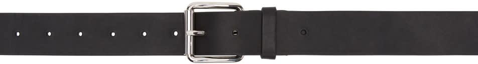 Image of Comme Des Garçons Shirt Black Leather Belt