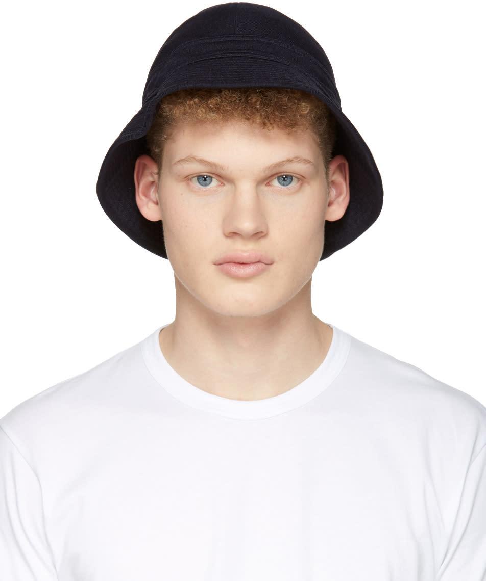 Comme Des Garcons Shirt Navy Bucket Hat