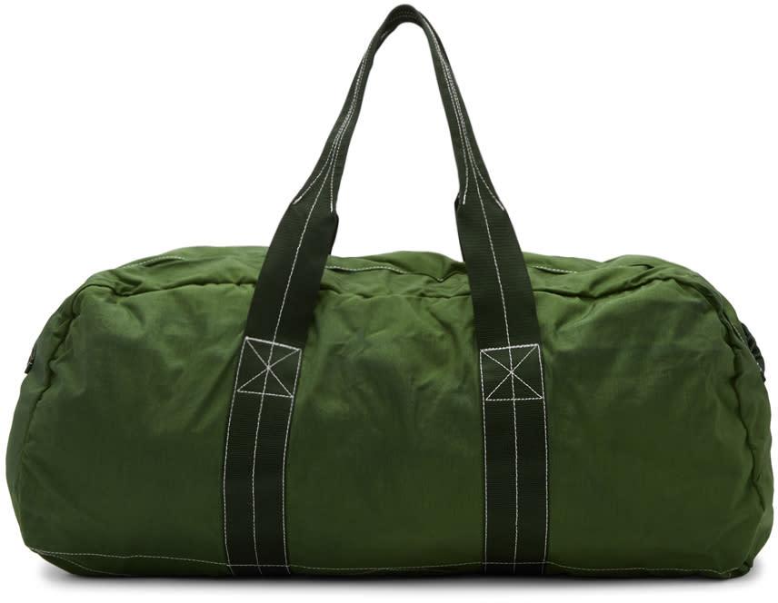 Comme Des Garcons Shirt Green Nylon Duffle Bag