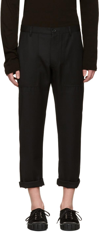 Comme Des Garcons Shirt Black Wool Gabardine Trousers