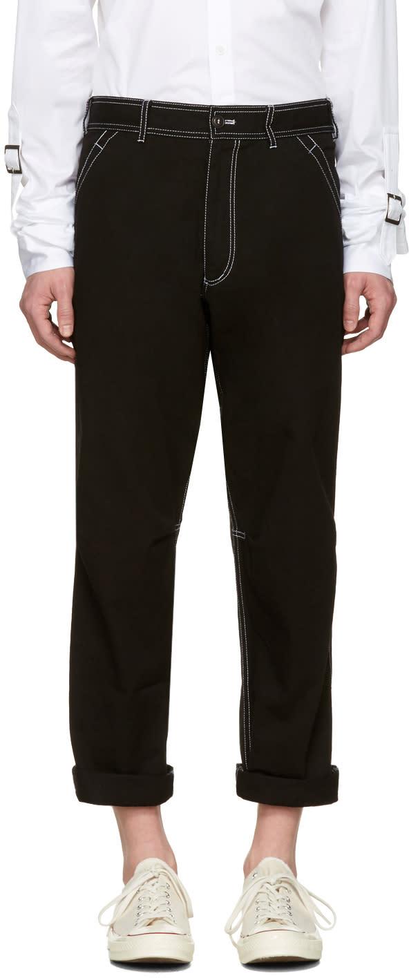 Comme Des Garcons Shirt Black Workstitch Trousers