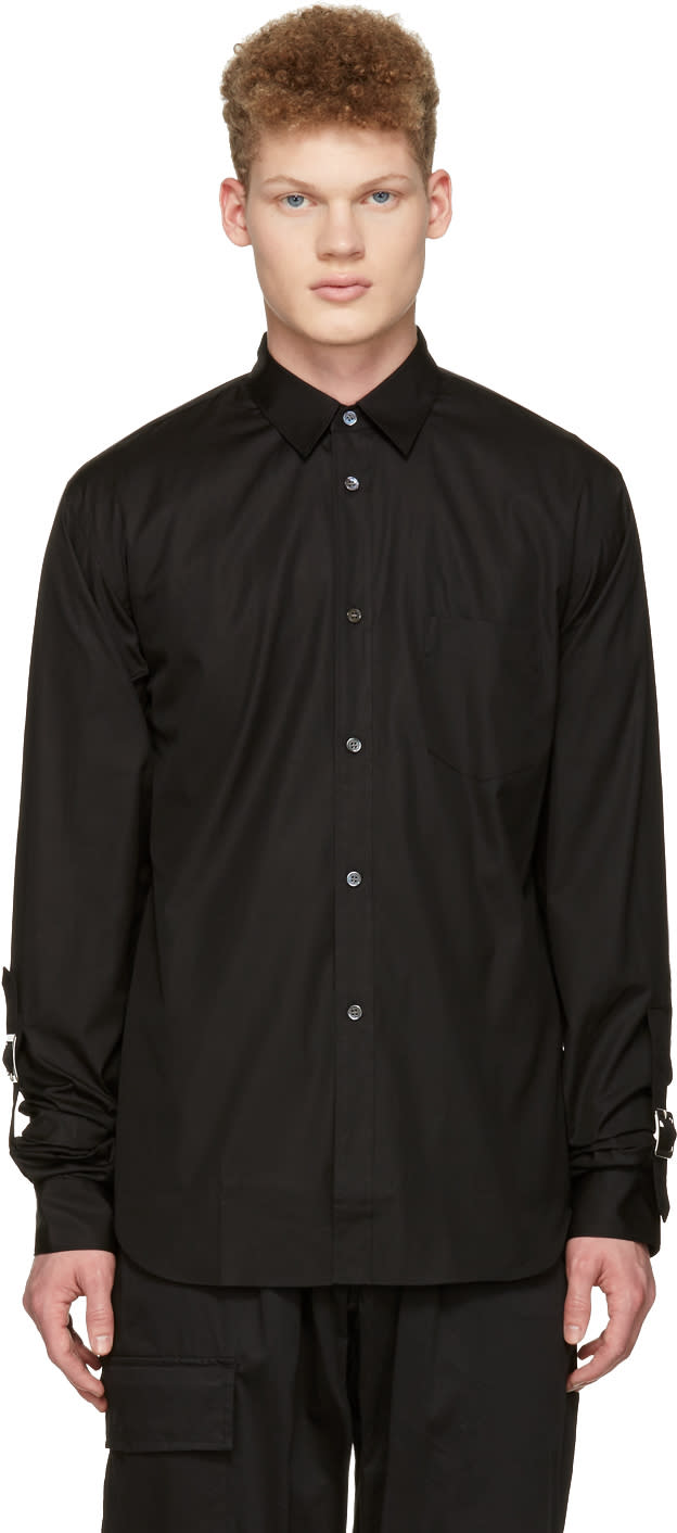 Image of Comme Des Garçons Shirt Black Adjustable Sleeves Shirt