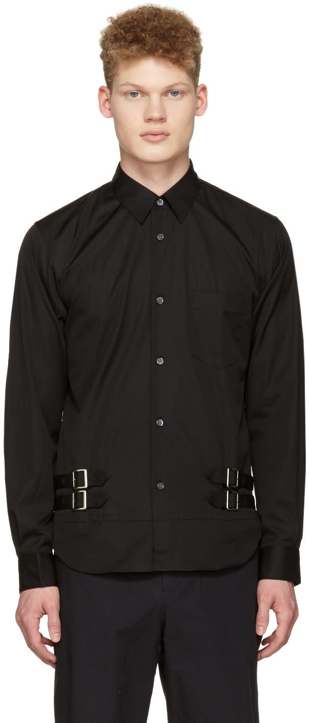 Image of Comme Des Garçons Shirt Black Double Belt Shirt