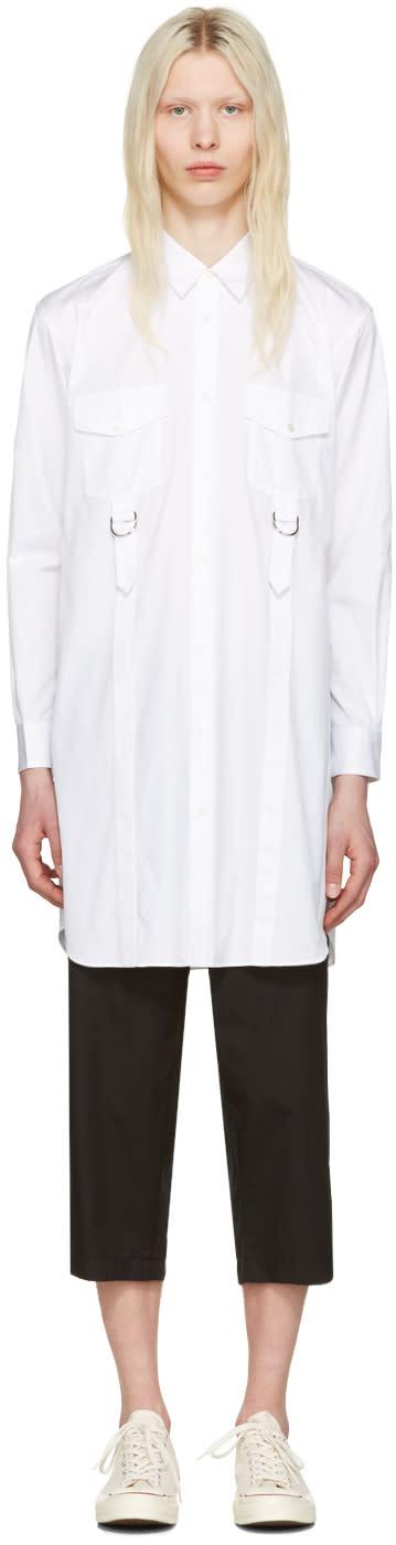 Comme Des Garcons Shirt White Adjustable Straps Shirt