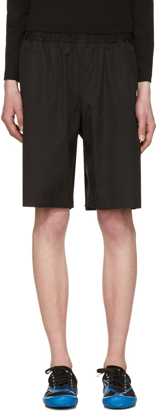Comme Des Garcons Shirt Black Workstitch Shorts