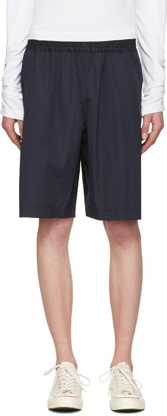 Comme Des Garcons Shirt Navy Workstitch Shorts