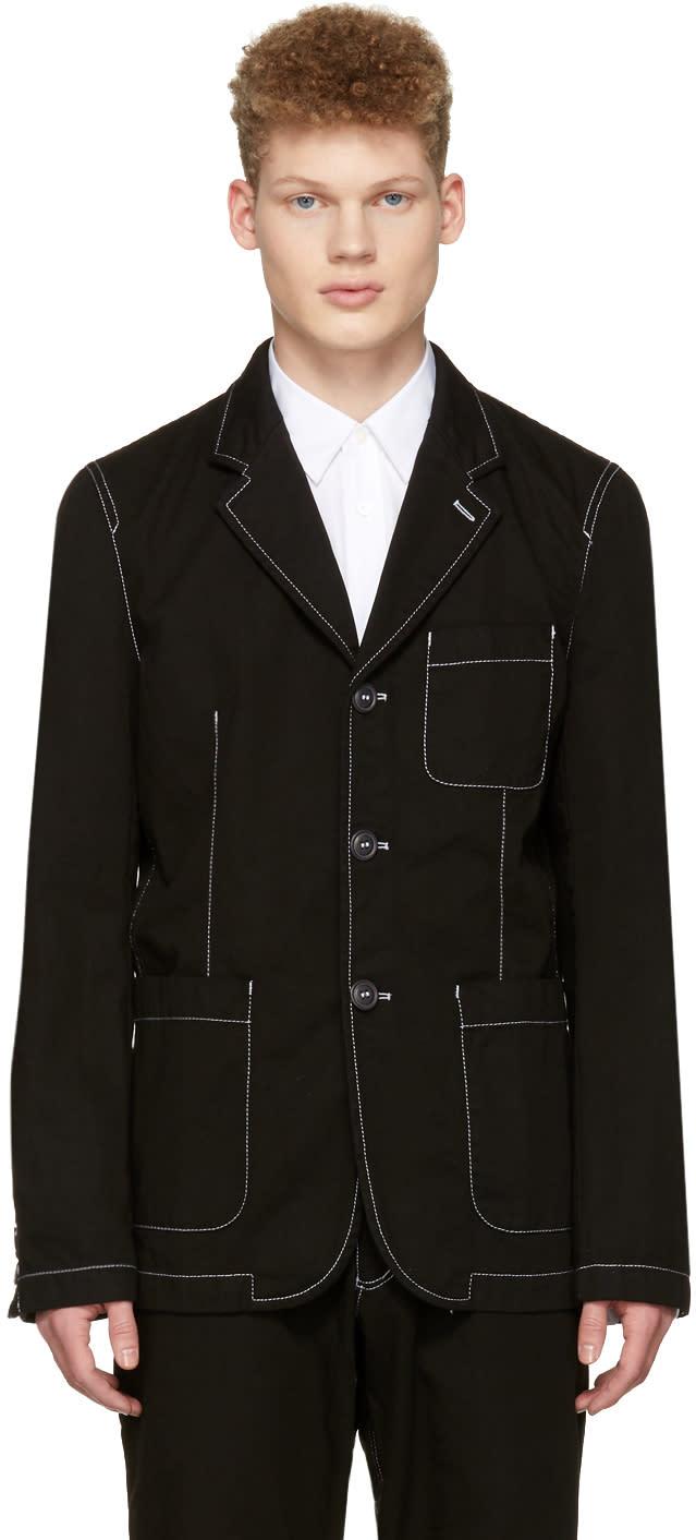 Comme Des Garcons Shirt Black Workstitch Blazer