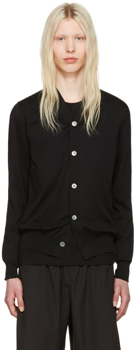 Image of Comme Des Garçons Shirt Black Cotton Cardigan