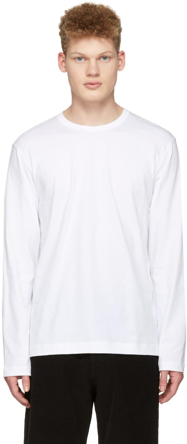 Comme Des Garcons Shirt White Back Logo T-shirt